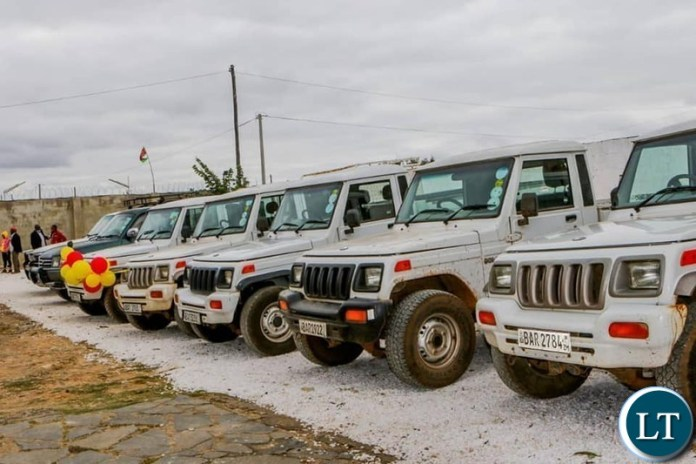 UPND motor vehicles handed to  10 provincial Chairmen across the country