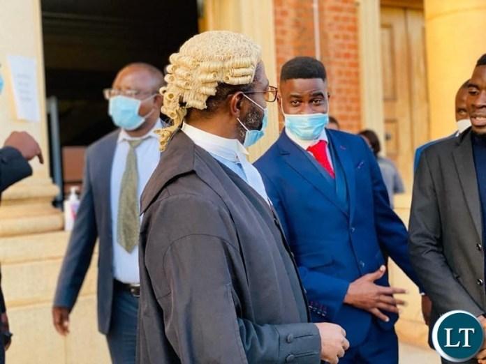 John Sangwa of Simeza, Sangwa and Associates after the court sessions