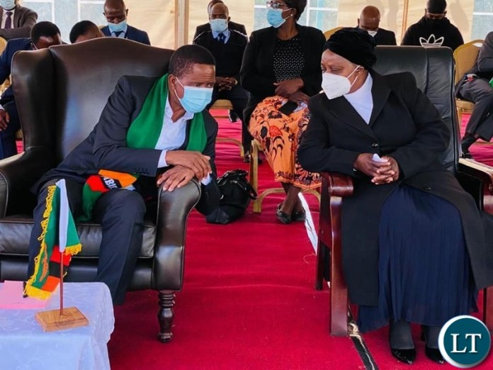 President Lungu with First lady at the Funeral House of the Late President Kenneth Kaunda