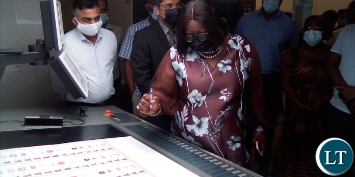 Dr Sikazwe commissions printing of presidentila ballot papers at Al Ghurair plant in Dubai