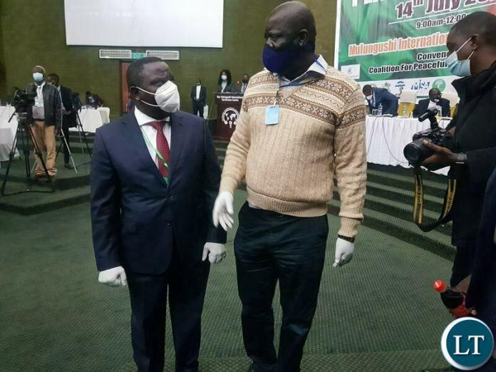 DP President Harry Kalaba and PF SG Davies Mwila
