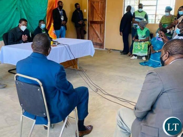 President Lungu meeting chief Mapanza and Chief Chikanta
