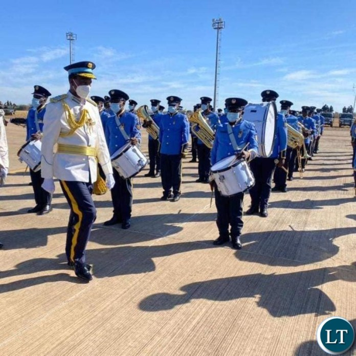 President Lungu at the commissioning of 30 officer cadets of the Zambia Air force in Livingstone