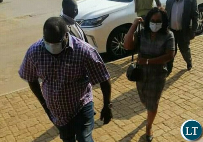 PATRIOTIC Front member Chishimba Kambwili and his wife Carol arrive at the Lusaka Magistrate's Court for judgment in a case the former National Democratic Congress president is facing 39 counts of possession of property reasonably suspected to be proceeds of crime.