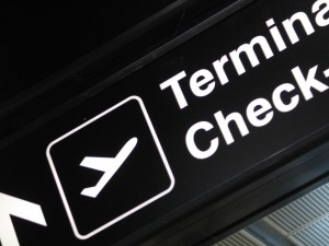 Airport Terminal Sign Check In