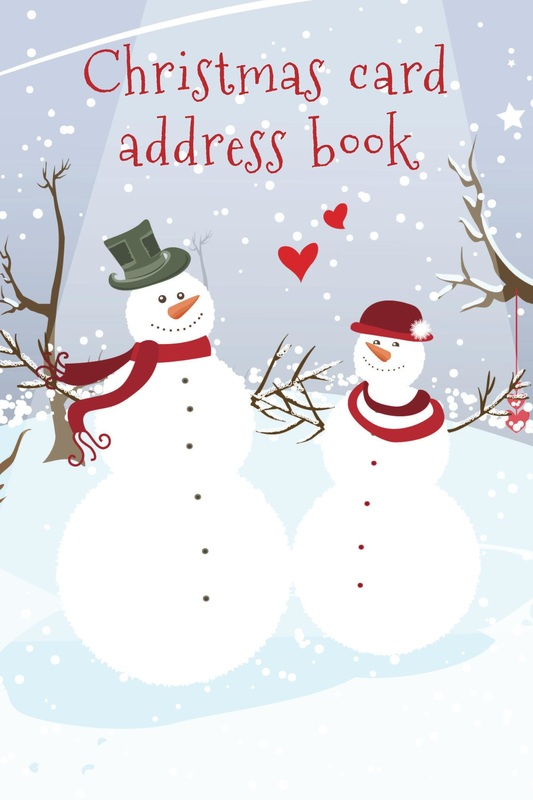 Christmas card address books  Luscious Books