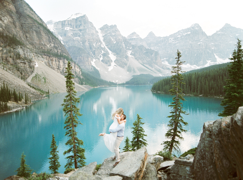 Moraine Lake And Lake Louise Engagement Session Alli And