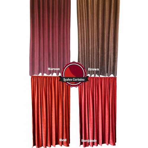 11 ft high fire rated velvet curtains w rod pocket top