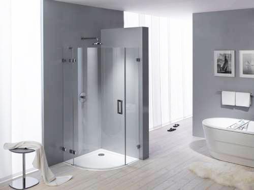Modern Bathroom Decorating With Beautiful Bathtub And Space Saving Shower