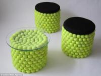 Unique Furniture Designs Recycling Tennis Balls for ...