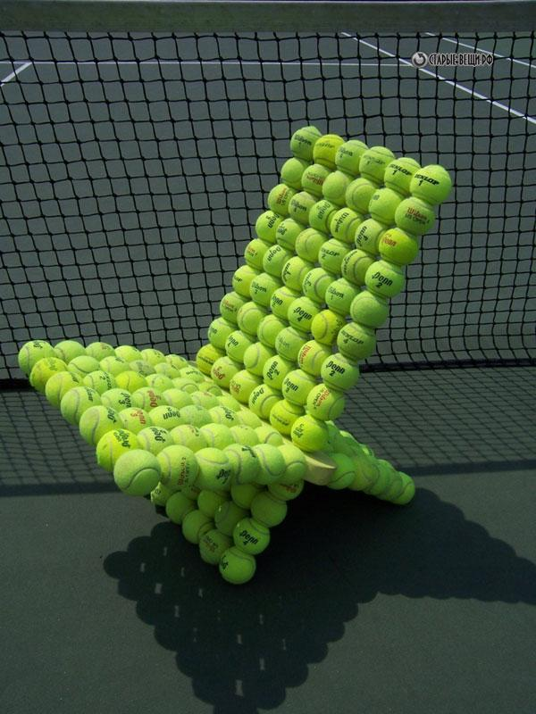 Unique Furniture Designs Recycling Tennis Balls for