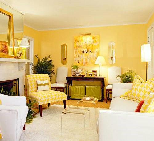 interior color design for living room ideas cheap yellow decorating and psychology paint furniture upholstery fabric green scheme