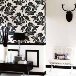 Black And White Wallpaper Ideas For Living Room Pic Of N Design Neutral Modern Interior Color Schemes Rooms Flower Wall Painting In