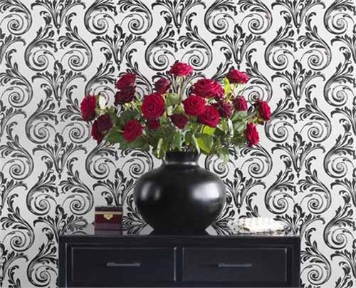 black and white wallpaper ideas for living room kitchen diner layouts modern interior decorating