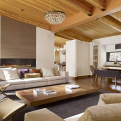 Modern Living Room Wooden Furniture Brown Curtains For Walls Ceiling Design And Solid Wood Eco Homes Coffe Table