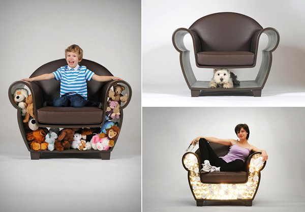 Creative Storage Furniture Design Hollow Chair and Lost
