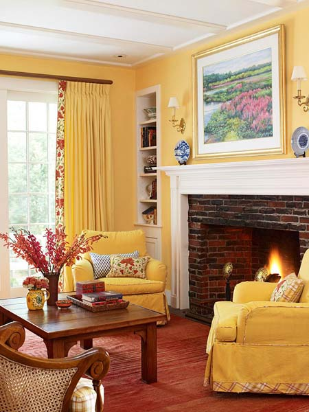 Modern Interior Decorating with Yellow Color, Cheerful ...