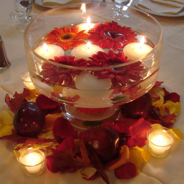20 candles centerpieces romantic