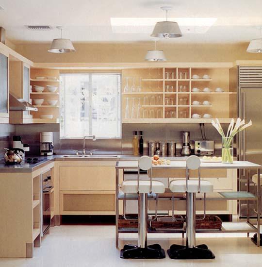 Retro Modern Kitchen Decorating Ideas Open Kitchen