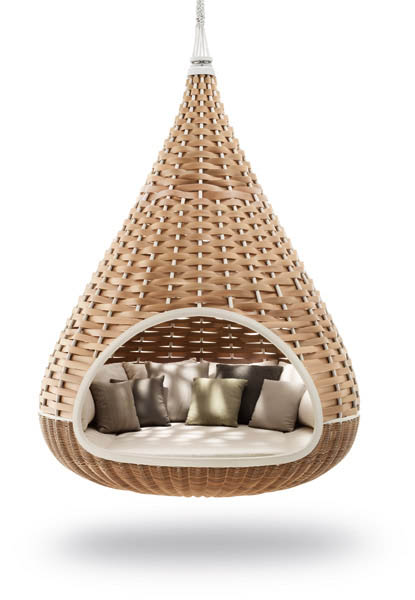 wicker hammock chair marie bean bag outdoor furniture collection from dedon innovative hanging daybed with pillows