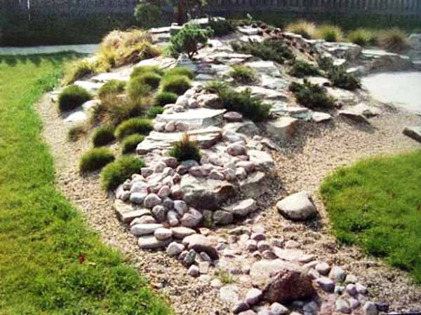 Decorative Boulders Garden