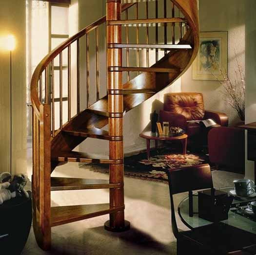 Modern Interior Design With Spiral Stairs Contemporary Spiral | Wood Spiral Staircase Plans | Before And After | Simple | Construction | Kid Friendly | Winding