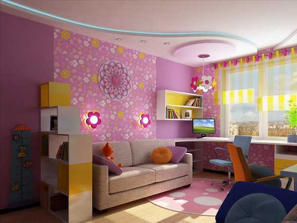 Kids Room Decorating Ideas for Young Boy and Girl Sharing