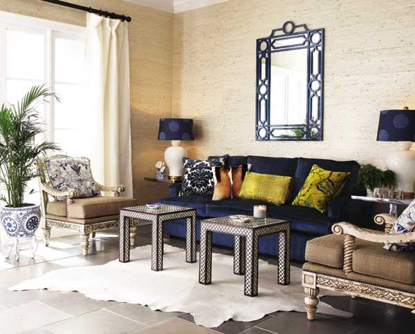 wall mirror living room large pictures for mirrors reflecting 25 gorgeous modern interior design and deep blue color decorating