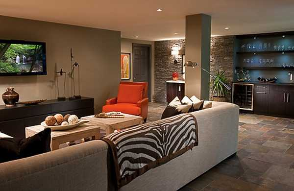 ceramic tile living room wall brown furniture sets 35 modern interior design ideas creatively using tiles for dining decorating with floor and