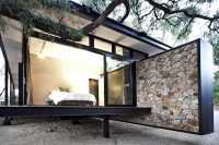 Modern House Design Blending Stone, Steel and Wood into ...