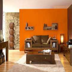 Orange Living Room Decorating Ideas Fireplace Uk 22 Modern Interior Design Blending Brown And Colors By Ena Russ Last Updated 25 10 2016