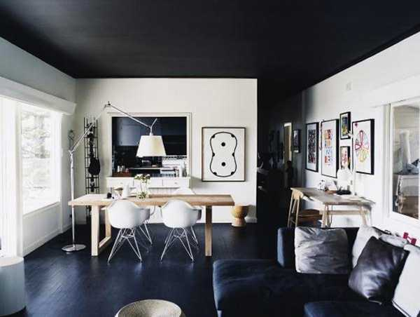 Black Ceiling Designs Creating Modern Home Interiors that ...