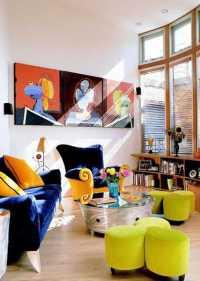 16 Ideas Bringing Bright Room Colors into Modern Interior ...