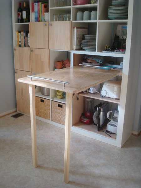 folding kitchen tables 4 piece appliance package 30 space saving table design ideas for functional small rooms interior