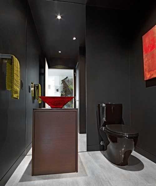 Black Bathroom Fixtures and Decor Keeping Modern Bathroom