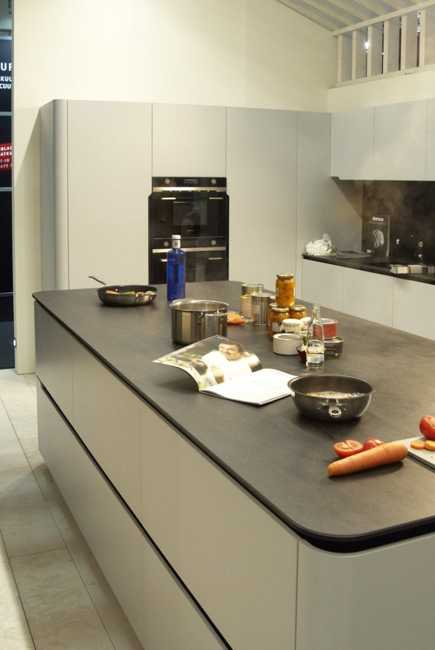 New Kitchen Countertop Material Creating Clean Contemporary Kitchen Design With Invisible Cooktop