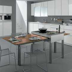 Modern Kitchen Table Wood Cabinets Tables For Small Kitchens Show Adjustable Multifunctional With A Sliding Cooking Surface