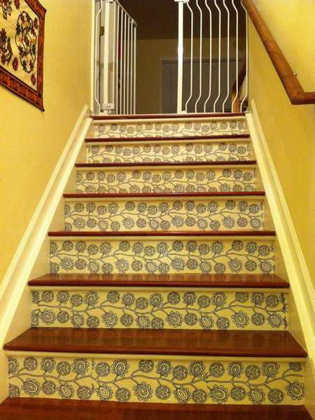 Cozy Fall Wallpaper Adding Beautiful Wallpapers To Stairs Risers For Original