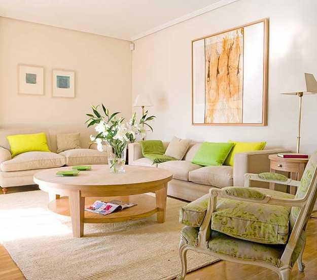 3 Modern Living Room Designs in Fresh Green Color Inspired