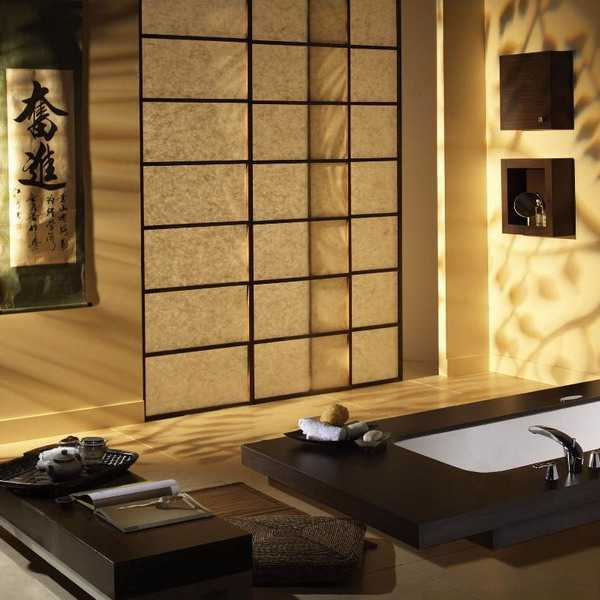 decoration ideas for small living room with fireplace chairs elegant modern bathroom design blending japanese ...