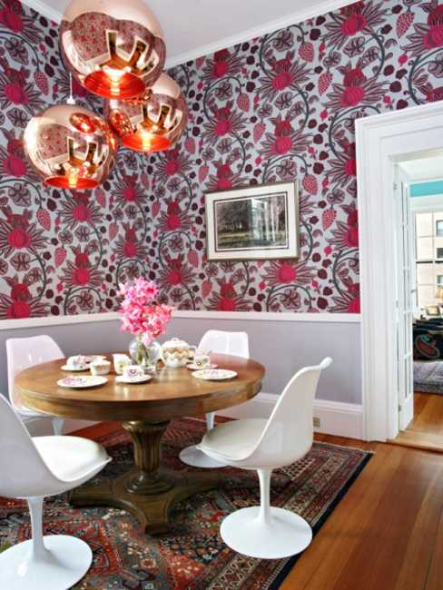 Painting Ideas Modern Wallpaper and Colorful Home Fabrics