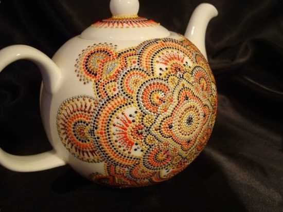 Amazing Painting Ideas Turning Ceramic Tea Pots and Mugs