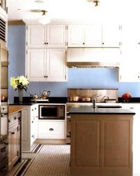 Modern Kitchen and Bedroom Color Schemes with Light Blue