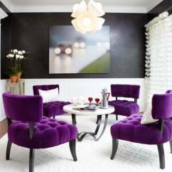 Purple Color For Living Room Blue End Tables Furniture Modern Home Decorating Ideas Blending Into Creative Chair Upholstery Fabric
