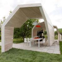 Unusual Wooden Gazebo Design Adding Contemporary Style to ...