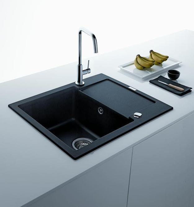 black sink kitchen delta talbott faucet sinks countertops and faucets 25 ideas adding white design with a accessories