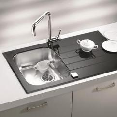 Black Kitchen Sinks Commercial Cleaning Services Countertops And Faucets 25 Ideas Adding Deep Red Cabinets With