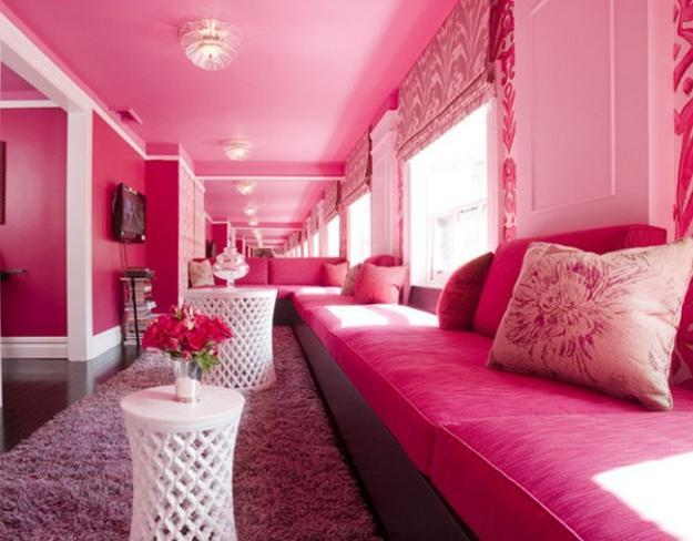 Pink Color Schemes Offering Symbolic And Romantic Interior