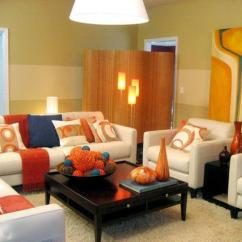 Orange Living Room Designs Best Deals On Sets How To Use And Blue Color Schemes For Modern Interior Design Home Decorating Ideas Light Colors Accentuate Decor In White Brown Red