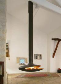 25 Hanging Fireplaces Adding Chic to Contemporary Interior ...